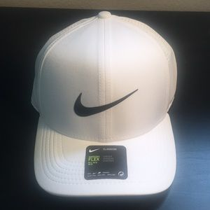 Nike hat, white with black logo, new with tags